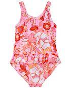 Neon Floral One Piece Swimsuit, , hi-res