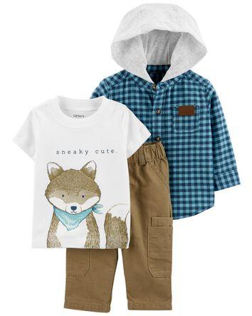 3-Piece Fox Little Outfit Set