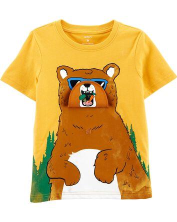 Bear Peek-A-Boo Flap Jersey Tee