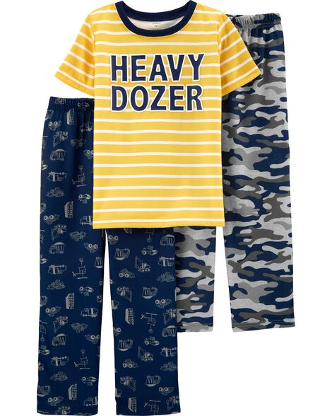 3-Piece Construction Truck Poly PJs