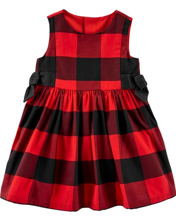 Buffalo Check Sateen Dress
