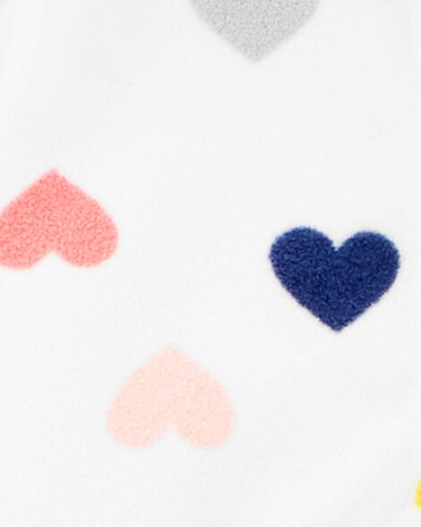 Combinaison en molleton avec cœurs