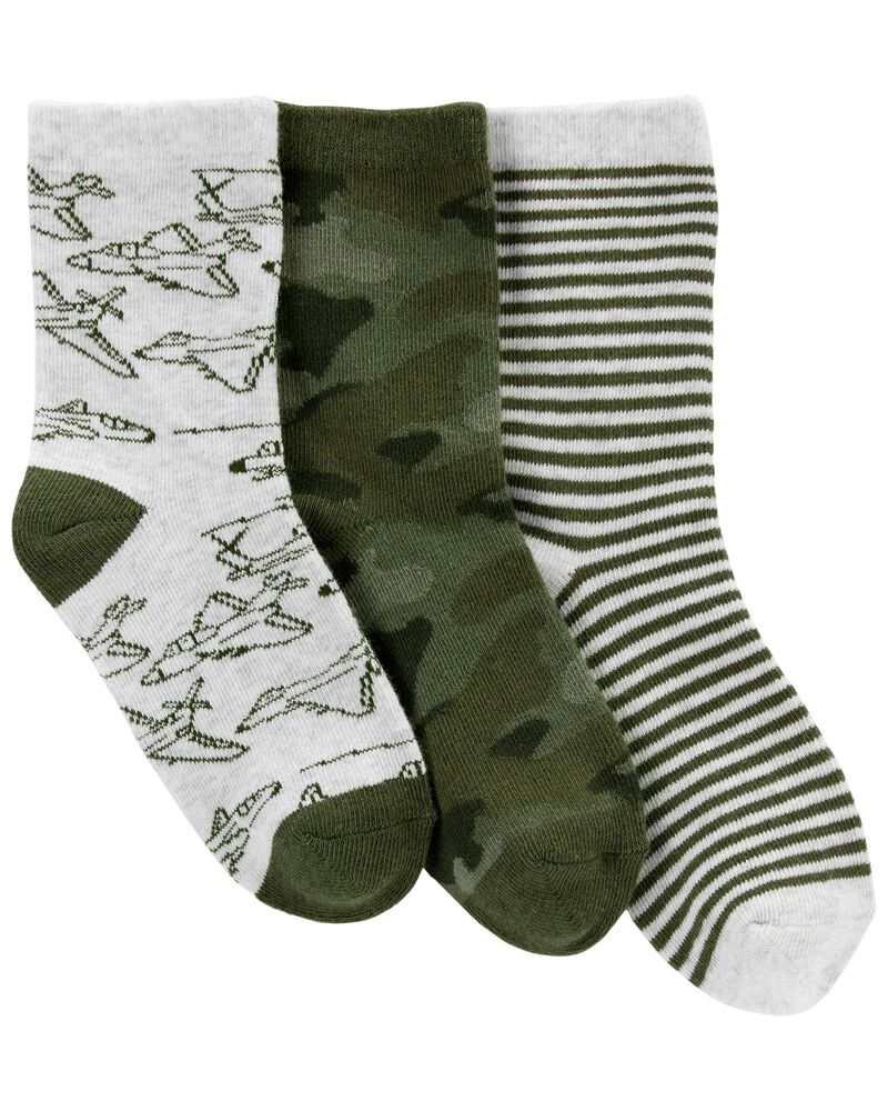3 paires de chaussettes mi-mollet camouflage, , hi-res