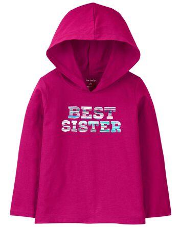 Best Sister Hooded Jersey Tee