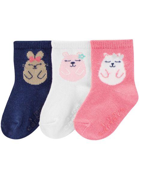 Emballage de 3 paires de chaussettes de marin motif animal