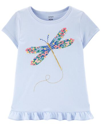 Floral Dragonfly Jersey Tee