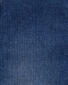 Salopette en tricot de denim à poche en forme de cœur, , hi-res