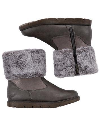 Fur-Trim Boots