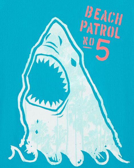 T-shirt à imprimé original requin