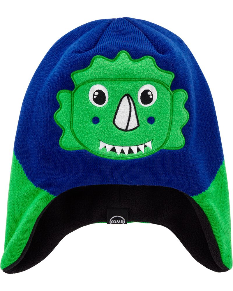 Kombi Fleece-Lined Daniel The Dinosaur Knit Hat, , hi-res
