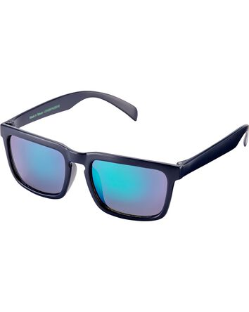 Navy Square Sunglasses