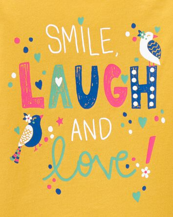 Smile Laugh & Love Jersey Tee
