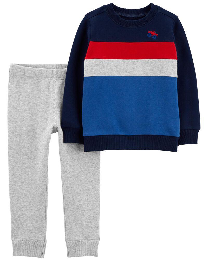 2-Piece Striped Tee & Pant Set, , hi-res
