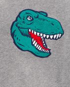 Dinosaur Fleece Pullover, , hi-res