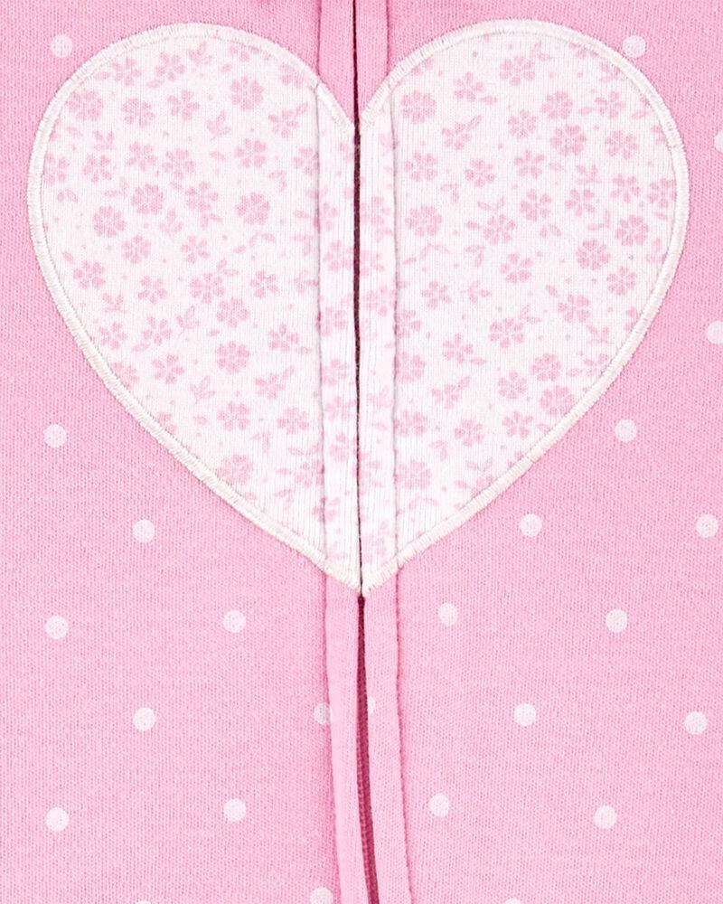 Heart 2-Way Zip Sleep & Play, , hi-res