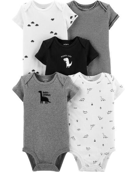 5-Pack Dinosaur Original Bodysuits