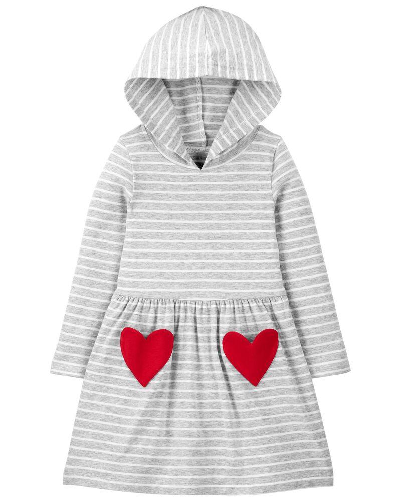 T-shirt en jersey avec capuchon et cœur , , hi-res