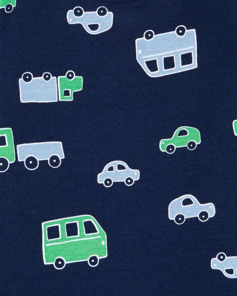 4-Piece Cars Snug Fit Cotton PJs