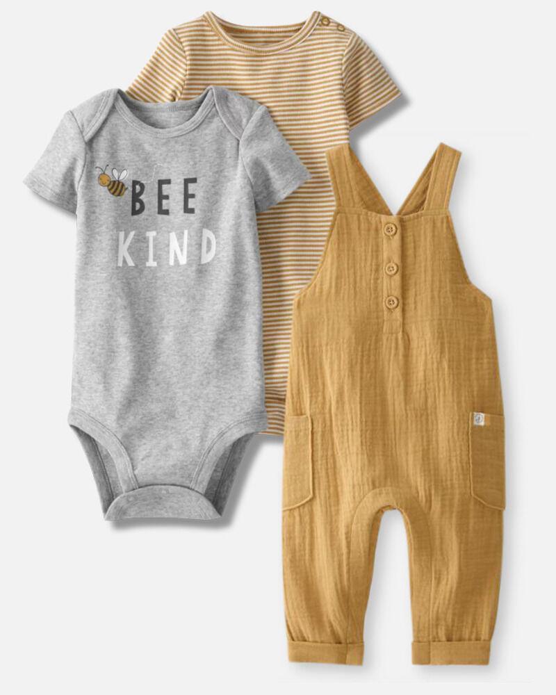 Organic Overalls & Bodysuits Set, , hi-res