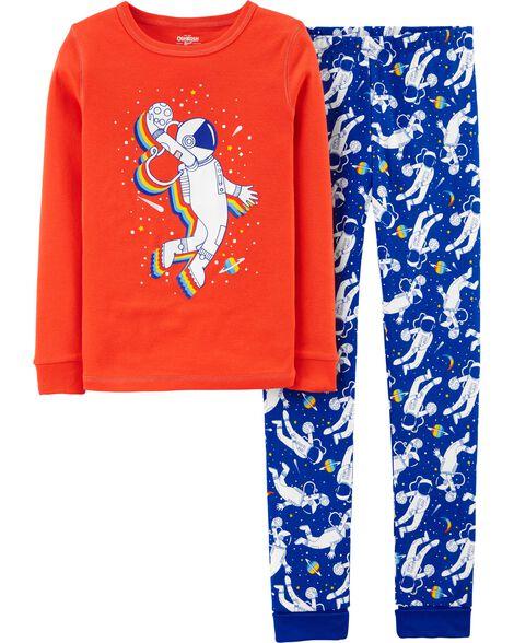 Pyjama 2 pièces ajusté astronaute
