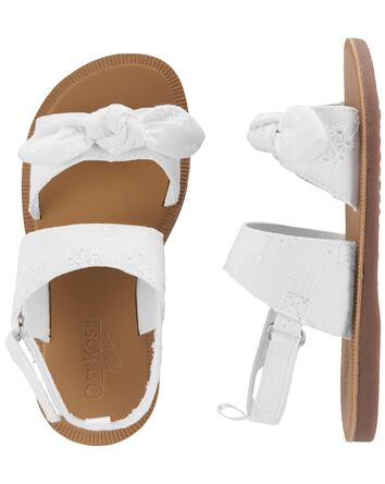 Eyelet Knot Bow Sandals