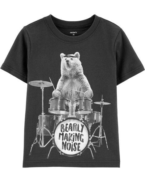 T-shirt en jersey ourson batteur