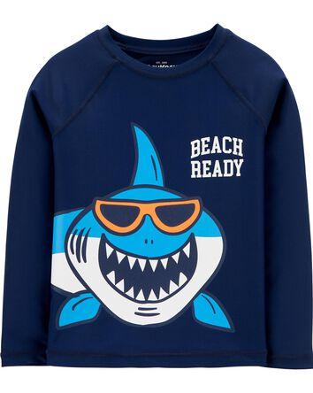 Beach Ready Shark Rashguard