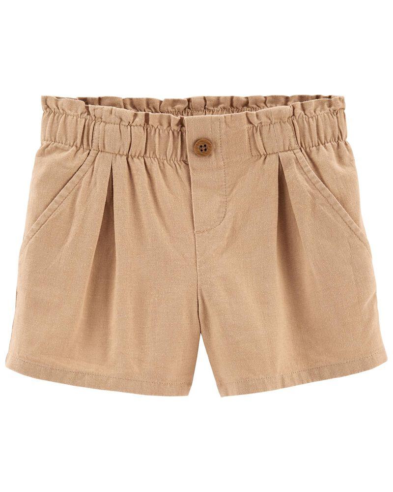 Linen Shorts, , hi-res