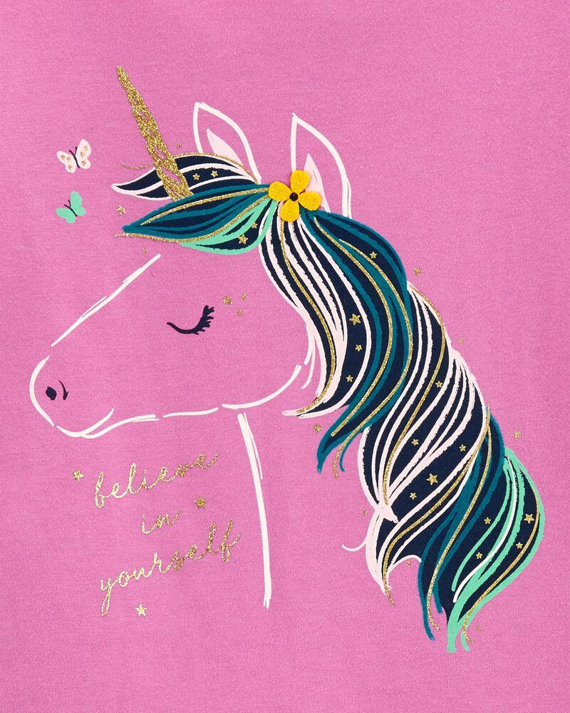 T-shirt en jersey avec licorne, , hi-res