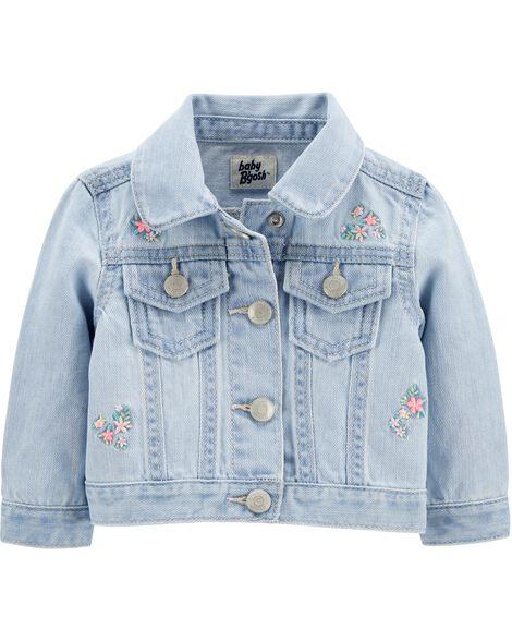 Floral Embroidered Denim Jacket