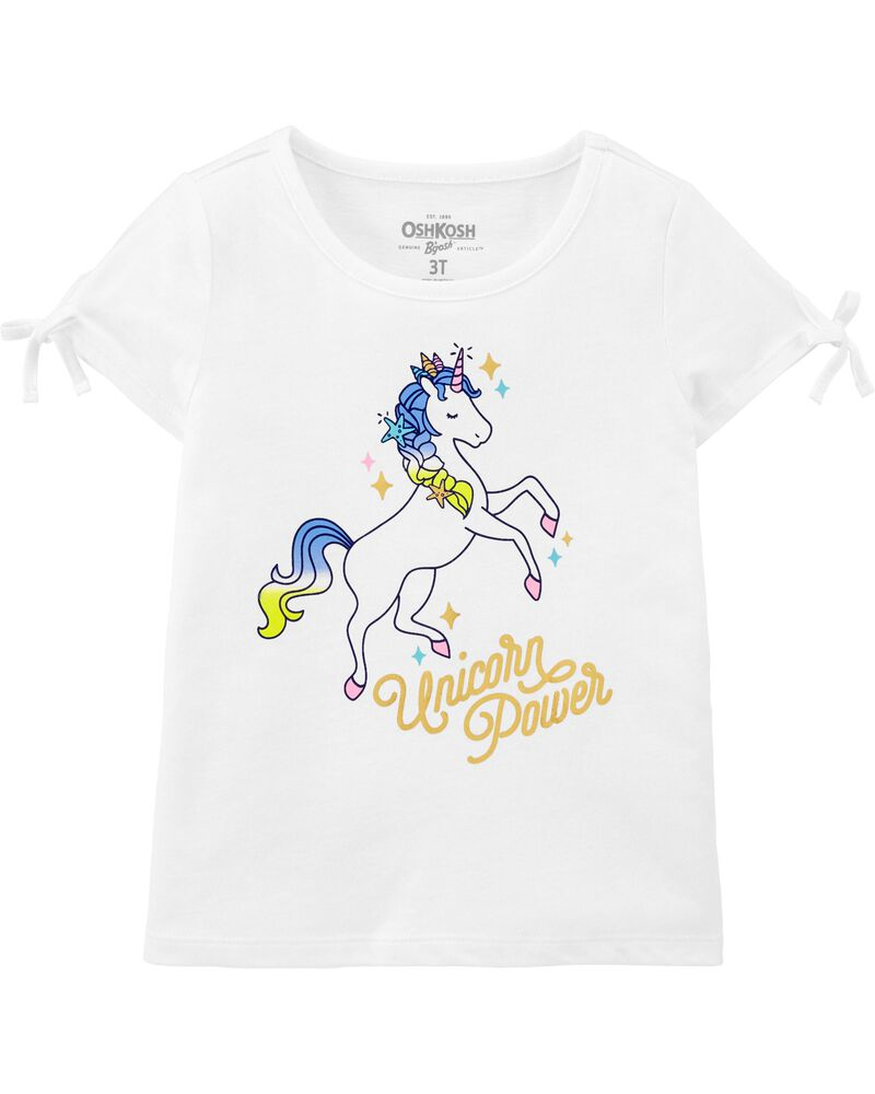 T-shirt à nœud aux manches Unicorn Power, , hi-res