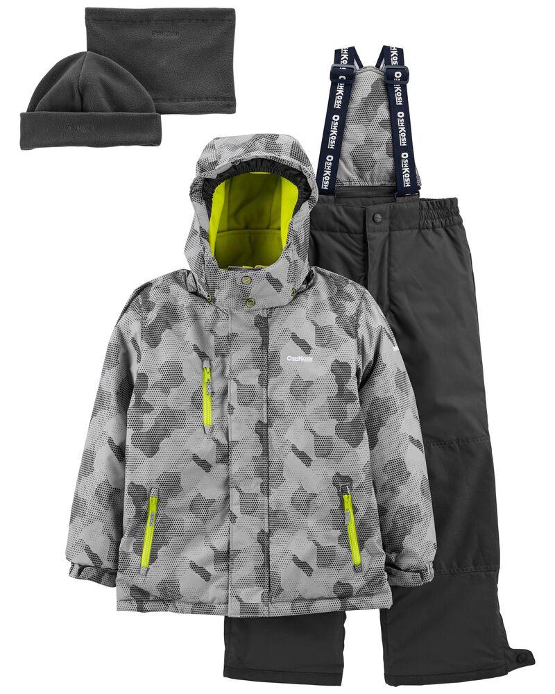 2-Piece Snowsuit With Bonus Hat & Neck Warmer, , hi-res