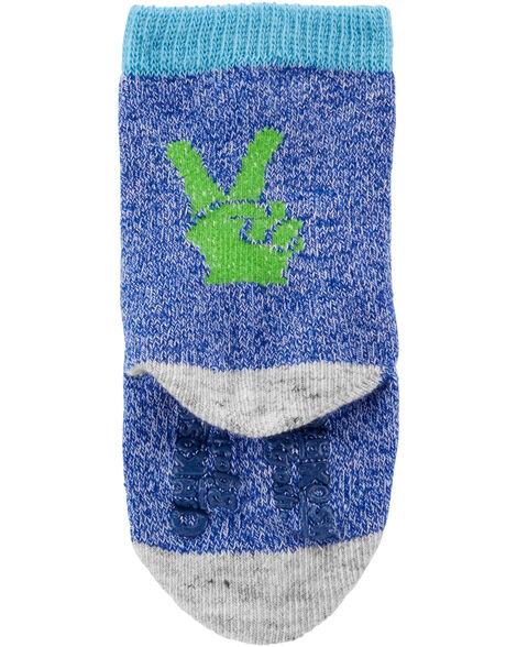 6 paires de chaussettes mi-mollet fluo