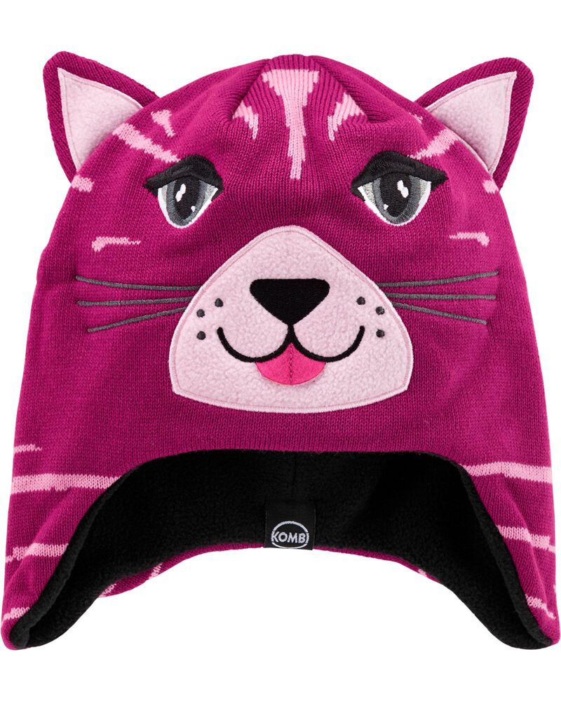 Kombi Fleece-Lined Cathleen The Kitten Knit Hat, , hi-res