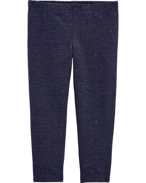 Legging en tricot de denim scintillant
