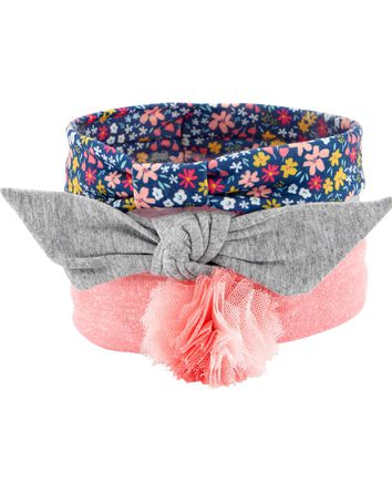 3-Pack Floral Headwraps