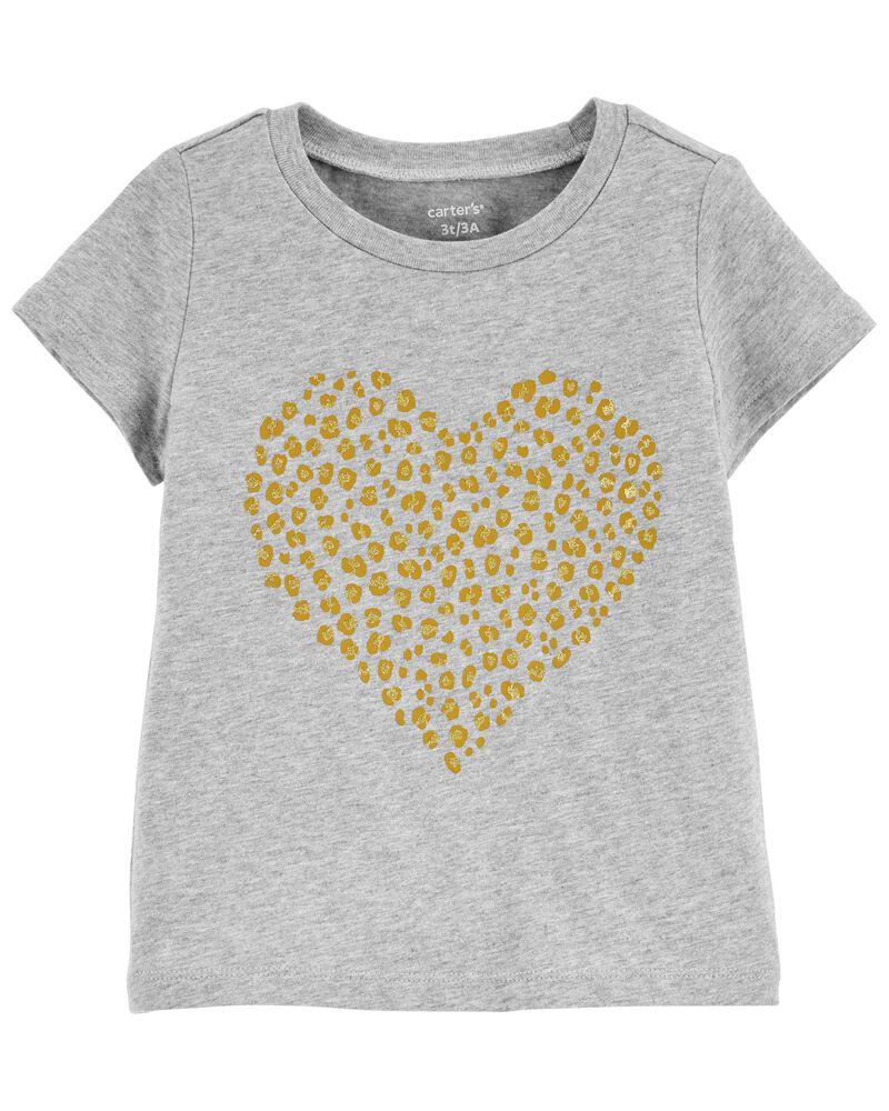 Leopard Heart Jersey Tee, , hi-res