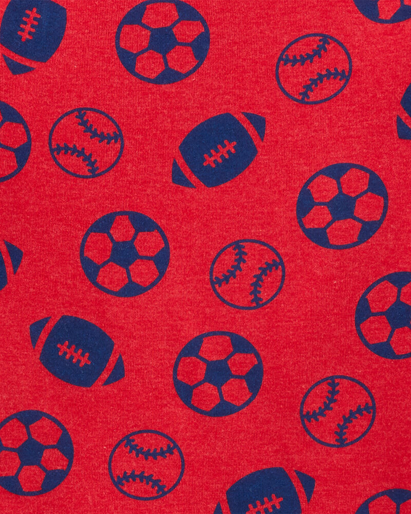4-Piece Football MVP Snug Fit Cotton PJs, , hi-res