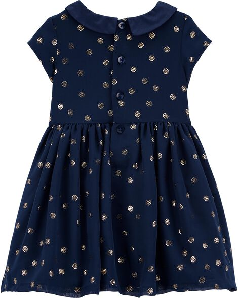 Glitter Dot Collared Dress