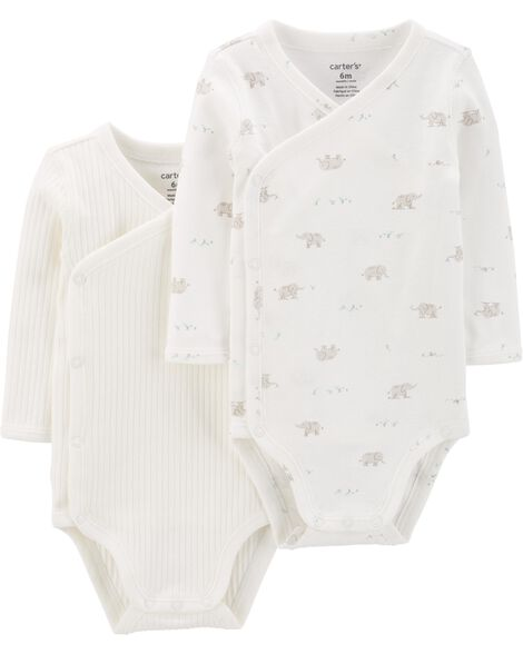 2-Pack Side-Snap Bodysuits