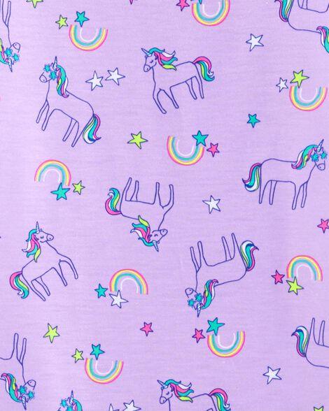 Robe de nuit à licorne arc-en-ciel