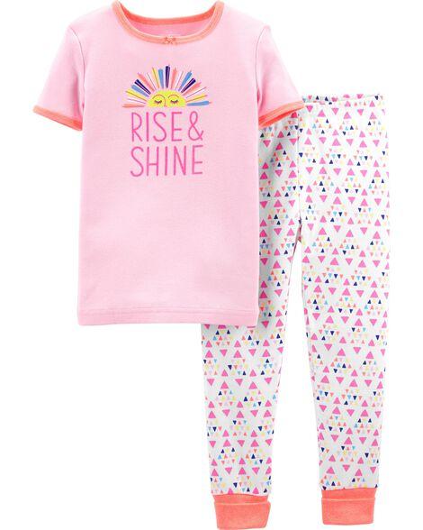 Pyjama 2 pièces ajusté Rise & Shine