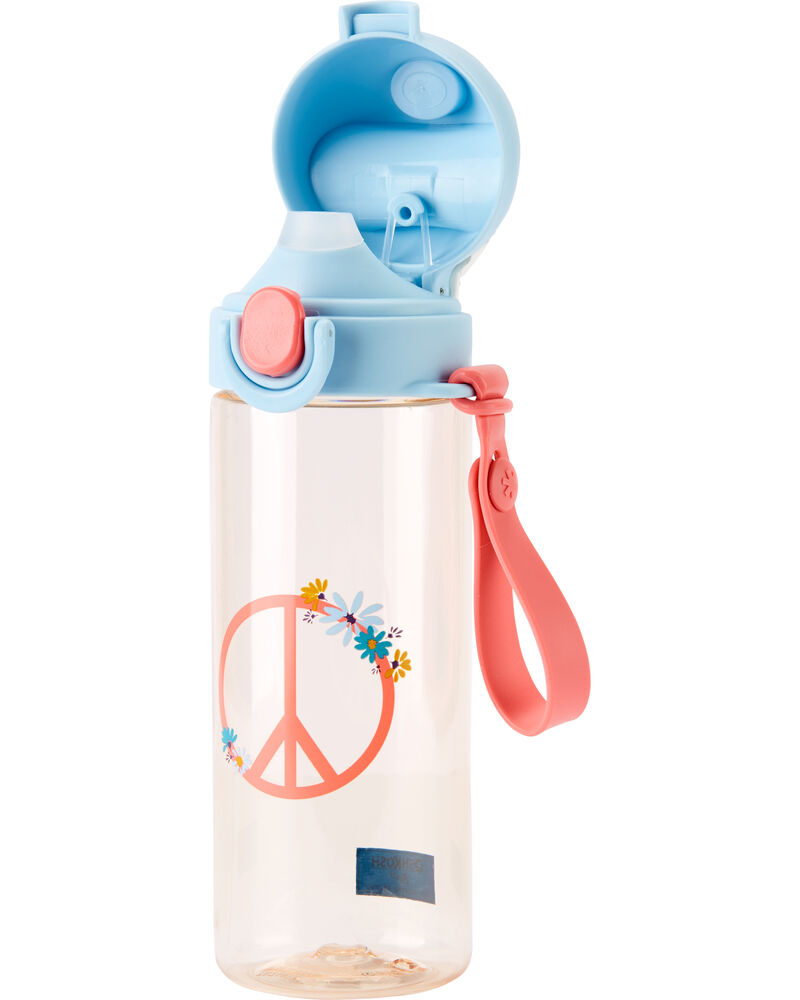 Peace Sign Water Bottle, , hi-res