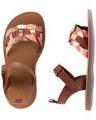 Rose Gold Chain Strap Sandals, , hi-res