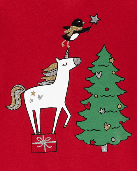 Christmas Unicorn Jersey Tee