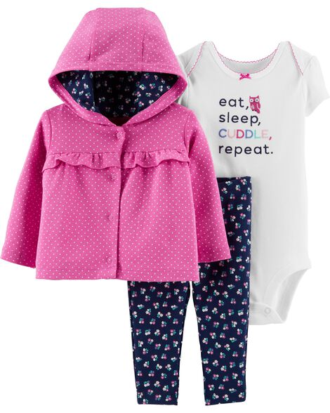 3-Piece Floral Little Jacket Set