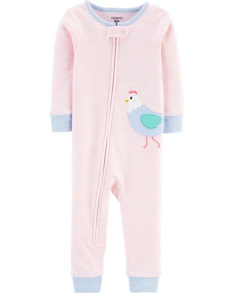1-Piece Chicken Snug Fit Cotton Footless PJs