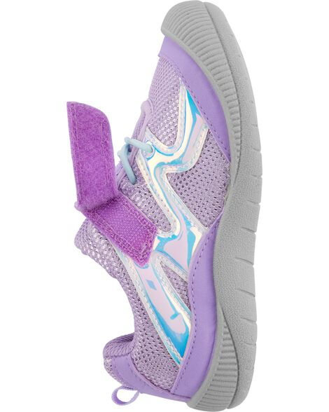 Lavender Bump Toe Athletic Sneakers