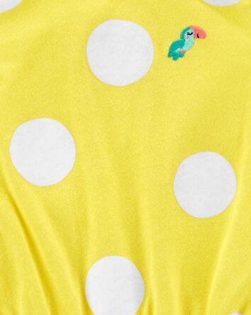 Polka Dot Cotton Romper