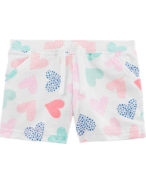 Heart Pull-On French Terry Shorts